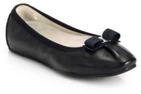 Salvatore Ferragamo My Joy Leather Ballet Flats $350 thestylecure.com