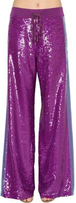 Alberta Ferretti Two Tone Sequined Track Pants