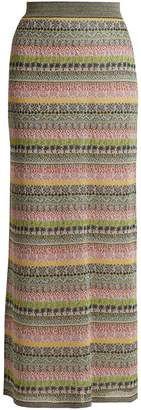 Missoni Striped metallic maxi skirt