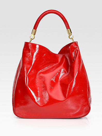 Yves Saint Laurent YSL Large Patent Leather Roady Hobo