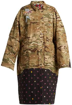 Natasha Zinko Contrast-panel camouflage-print jacket
