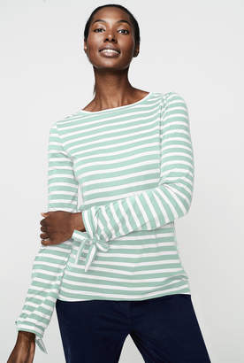 Long Tall Sally Striped Long Sleeve Cotton Tee