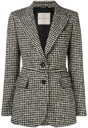 Ermanno Scervino houndstooth check fitted jacket