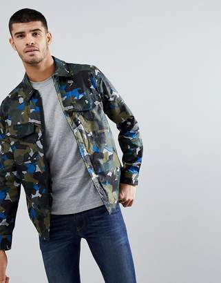 Paul Smith Cotton Camo Jacket In Green