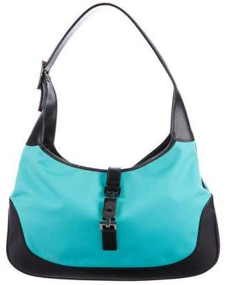 Gucci Leather-Trimmed Jackie Hobo