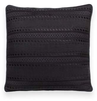 Kate Spade eyelet stripe accent pillow