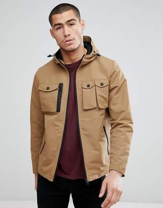 Brave Soul 4 Pocket Hooded Harrington Jacket