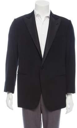 Ralph Lauren Purple Label Wool Satin Trim Tuxedo Jacket