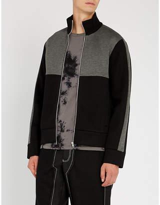 Helmut Lang Contrast-panel woven track jacket