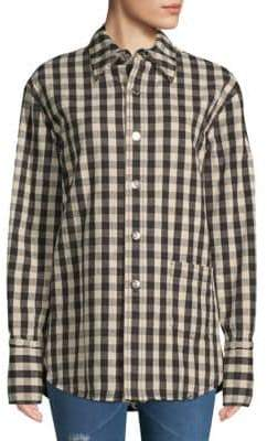Helmut Lang Check-Print Buttoned Jacket