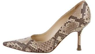 Jimmy Choo Python Pointed-Toe Pumps