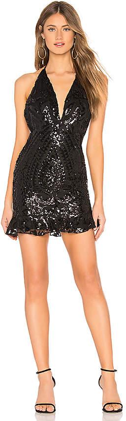 Krissy Sequin V Neck Dress