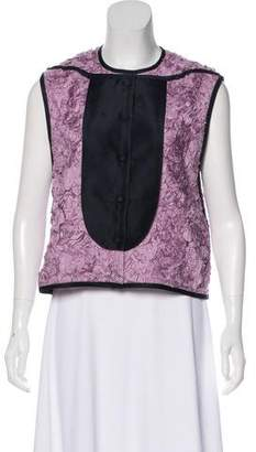 3.1 Phillip Lim Flower-Accented Silk Top