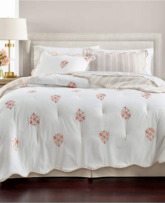 Martha Stewart Collection Embroidered Floret Reversible Cotton 8-Pc. Queen Comforter Set, Created for Macy's Bedding