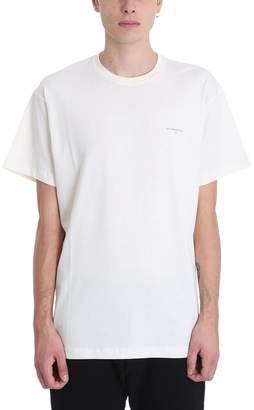 Ih Nom Uh Nit Small Logo Beige Cotton T-shirt