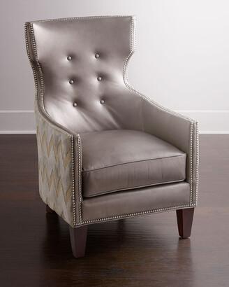 Thomas Laboratories Massoud Chevron Tufted Chair