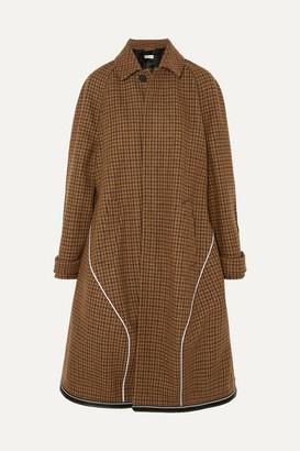 Balenciaga Houndstooth Wool-blend Coat
