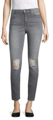 7 For All Mankind B(air) Distressed Skinny Jeans