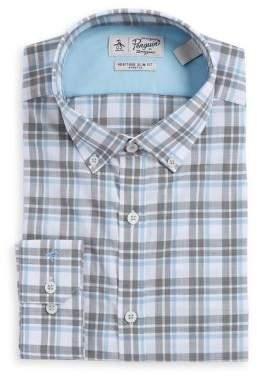 Original Penguin Plaid Cotton Dress Shirt