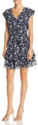 Aqua Ruffled Floral Paisley Print Dress - 100% Exclusive