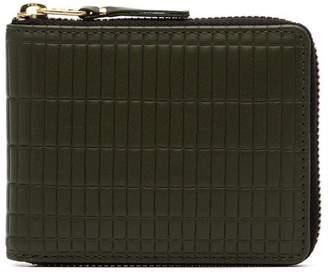 Comme des Garcons green Brick Zipped Wallet
