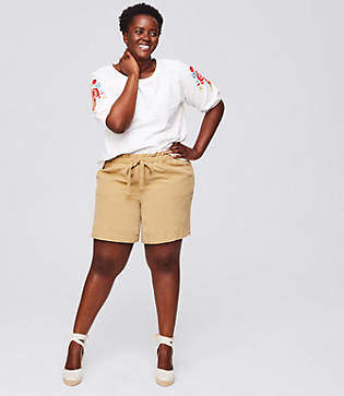 LOFT Plus Tie Waist Safari Shorts