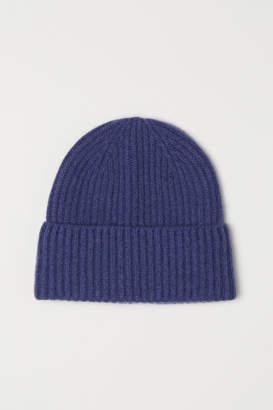 H&M Cashmere-blend Hat - Blue