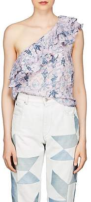 Etoile Isabel Marant Women's Thomy Floral Linen Top - Pink
