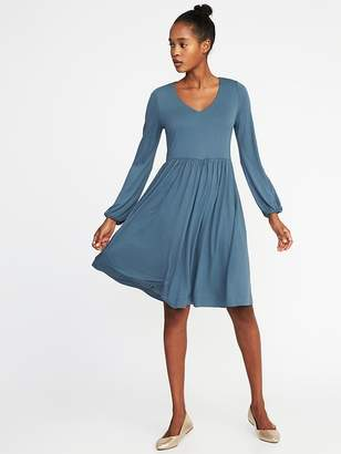 Old Navy Fit & Flare Jersey-Knit Dress for Women