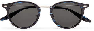 Barton Perreira Cambridge Round-Frame Acetate and Titanium Sunglasses - Men - Navy