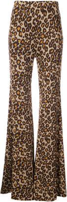 Rosetta Getty flared leopard print trousers