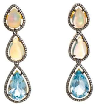 Modern Moghul Laasya 3-Stone Topaz Earrings