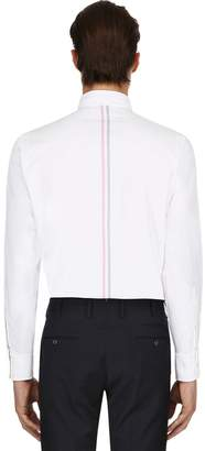 Thom Browne Cotton Oxford Shirt W/ Printed Stripes
