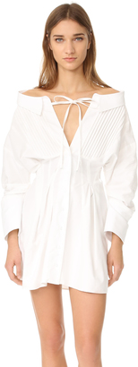 Jacquemus Tie Neck Dress $490 thestylecure.com