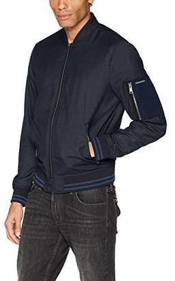 Armani Exchange A|X Men's Bomber Jacket Zipper Stripe Detail