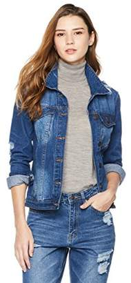 Parker Lily Women's Long Sleeve Button Front Denim Jacket