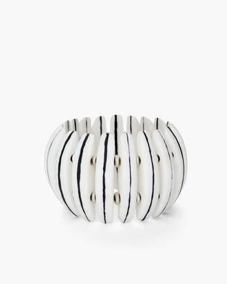 Black and White Wide Stretch Bracelet