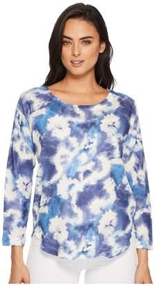 Nally & Millie Blue Tie-Dye Top Women's Clothing