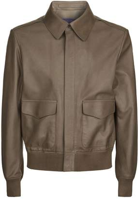 Ralph Lauren Purple Label Henfield Leather Aviator Jacket