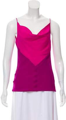 Narciso Rodriguez Silk Sleeveless Top