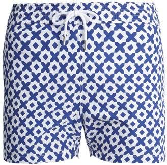 FRESCOBOL CARIOCA Sports Paraty-print swim shorts