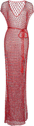 MY BEACHY SIDE Beaded Open-Knit Maxi Dress