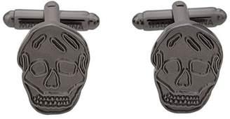Alexander McQueen skull engraved cufflinks