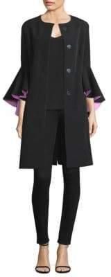 Milly Selena Ruffle-Sleeve Coat