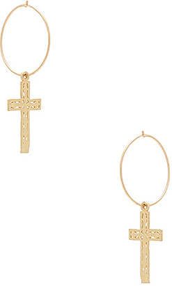 ERTH Small Cross Hoop Earring