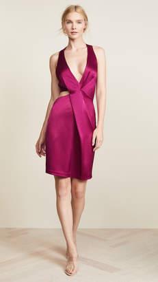 Halston Halter Cutout Dress