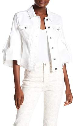 Rachel Roy Ruffle Sleeve Jacket