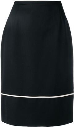 Jean Louis Scherrer Pre-Owned 1990's contrast stripe detail skirt