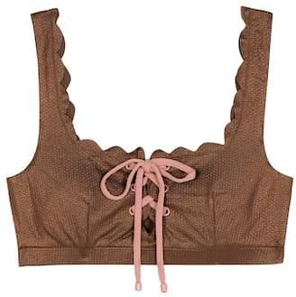 Marysia Swim Palm Springs Tie bikini top