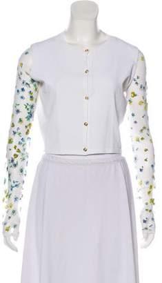 Versace Button-Up Crop Cardigan